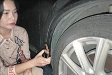 """#遵义网#一夜间十余辆车轮毂""""受伤"""""""
